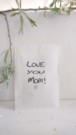 Geursachet Craft wit  Love you Mom ! 6 st.