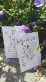 Sachet bloemenzaad Bloemen voor Bijen wit 6 st.