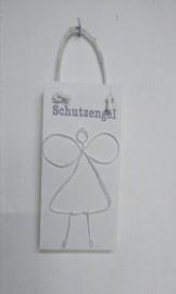 """Holzschild mit Schutzengel 6 St. """"Engel"""""""