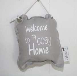 "hängende Kissen ""Welcome to my cosy Home""4 St."