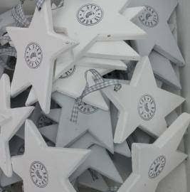 "Houten ster mini""a star is born 6 stuks"