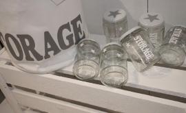 Glazen pot Storage 4 stuks