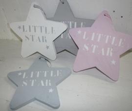 "Houten ster klein ""Little Star"" sja 2 stuks"