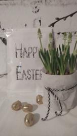 Geursachet Craft wit Happy Easter 6 st.
