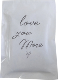 Geursachet Craft wit Loveyou more 6 st.