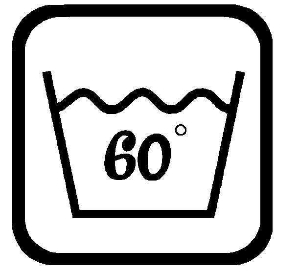 Sticker Wassymbolen 60C graden 6 st.