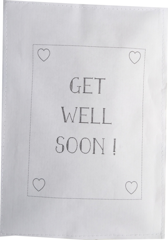 Geursachet Craft wit Get Well soon kader 6 st.