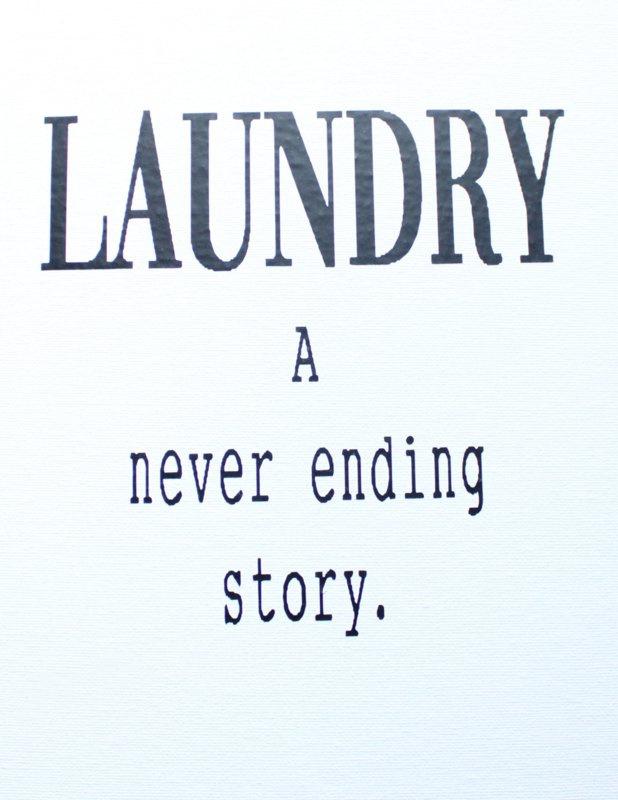 Muursticker LAUNDRY a never ending story 2st.
