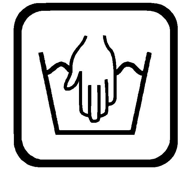 Sticker Wassymbolen handwas 6 st.