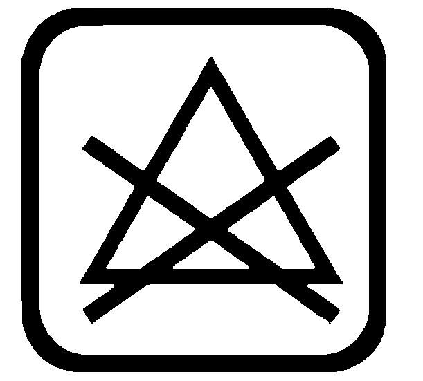 Sticker Wassymbolen niet bleken 6 st.