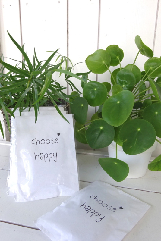 Geursachet Craft wit Choose Happy 6 st.