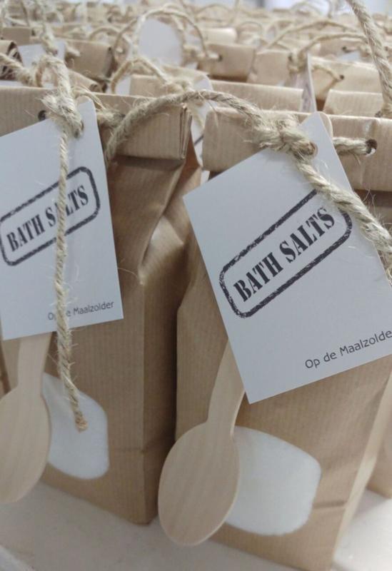 Paperbag badzout wit 2 st.
