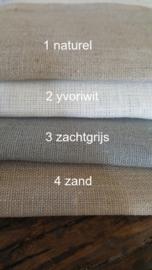 Gordijnen linnen met zeilringen