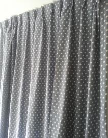 Gordijnen grijs met sterretjes