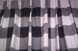 Gordijnen ruit zwart/wit