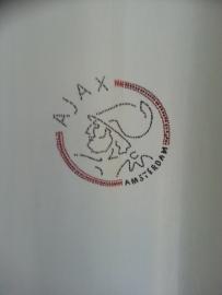 Ajax gordijn met logo van steentjes