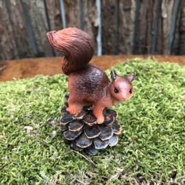 Polyester eekhoorntje op denneappel