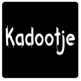 "Sticker ""Kadootje"" vierkant per 10 stuks"