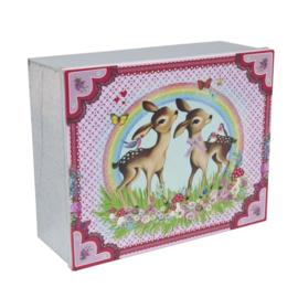 Nostalgisch zinken doos met bambies Clayre & Eef