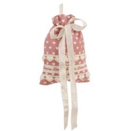 Potpourrizakje / cadeauzakje / zeepzakje Lovely Hearts roze Clayre & Eef