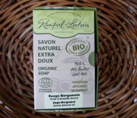Biologisch zeep Sauge-Bergamote Rampal Latour