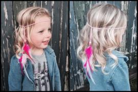 Ibiza hoofdband roze met lila