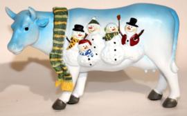 Polyester kerstkoe H14cm