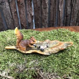 Polyester eekhoorntje op blad