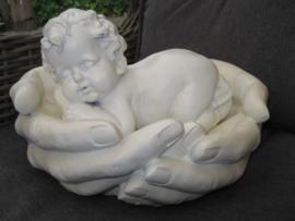 Polyester engel / baby in veilige handen