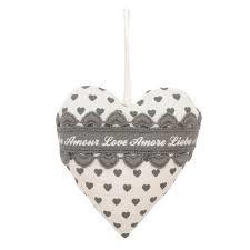 Hartje Love Hearts grijs Clayre & Eef