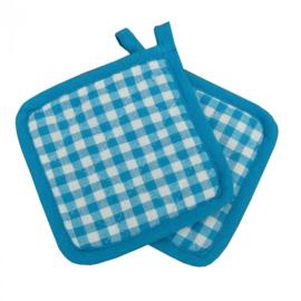 Oudhollands geruite blauwe kinderpannenlapjes