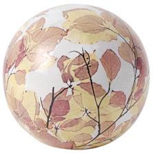 Keramiek bal 18 cm herfstbladeren AC131 Esschert Design