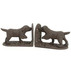 Gietijzeren boekenstandaard honden Clayre & Eef
