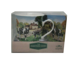 Mok met onderzetter Farmyard Cow Leonardo