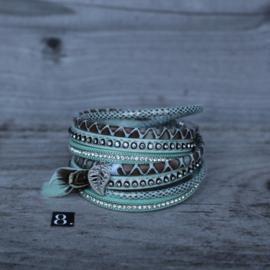 Ibiza armband turquoise