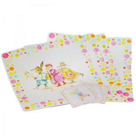 4 Placemats & 4 onderzetters Spring Tickle Jet by ter Steege