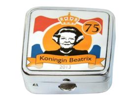 Pillendoosje koningin Beatrix klassiek