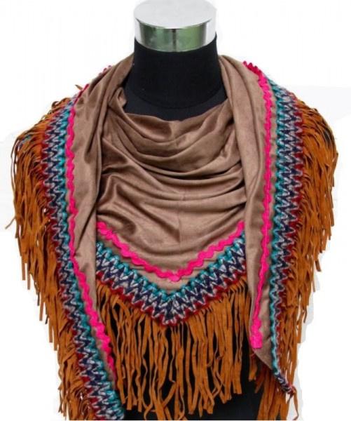 Suedinelook Ibiza sjaal