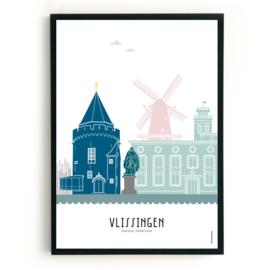 Poster Vlissingen in kleur
