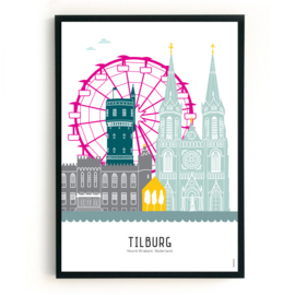 Poster Tilburg - kermis in kleur