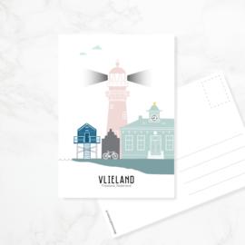 Ansichtkaart Vlieland - kleur