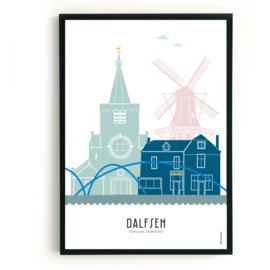 Poster Dalfsen in kleur