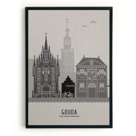 Gouda | A4 Poster - grijs karton SALE