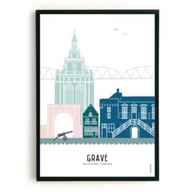 Poster Grave in kleur