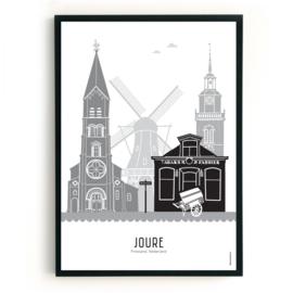 Poster Joure zwart-wit-grijs