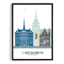 Poster Den Bosch in kleur