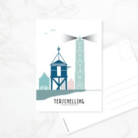 Ansichtkaart Terschelling - kleur