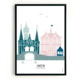 Poster Sneek in kleur