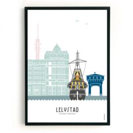 Poster Lelystad in kleur