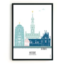Poster Veere in kleur